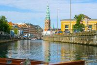 historical center of Copenhagen seen from the canal