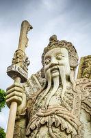 Chinese Guard statue in Wat Pho, Bangkok, Thailand