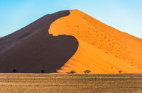 Red dunes in Sossusvlei, Namib-Naukluft National Park, Namibia