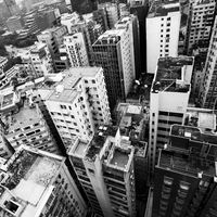 Residential buildings in Hong Kong city