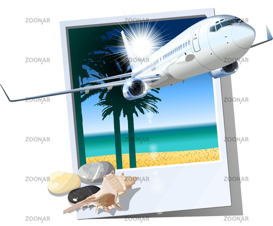 Commercial passengers airplane