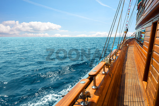 Yacht at sunny day