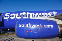 Southwest Airlines Boeing 737-700 airplane engine
