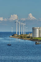 Offshore wind turbines park in Copenhagen - Wind is an highly-available resource in northern Europe, particularly in countries such as Denmark