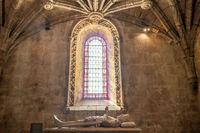 Interior of Jeronimos Monastery in Belem near Lisbon, Portugal