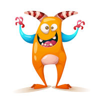 Funny, cute, crazy monster - cartoon characters.