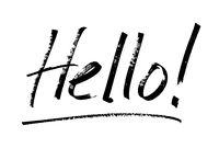 Hello! -  marker pen lettering