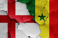 flags of England and Senegal
