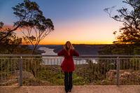Watching the sunset at Burragorang Lookout