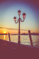 Sunset In Venice Italy