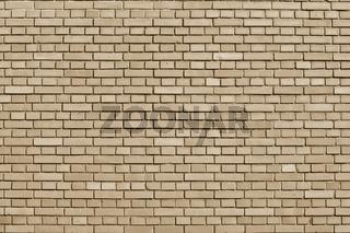 Almond Buff colored brick wall background
