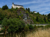 View to the castle Schadeck with cloudy sky