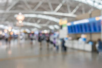 airport boarding area Blurred background