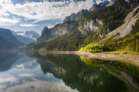 Reflection in lake Gosausee