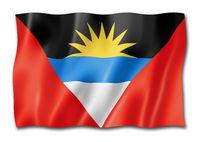 Antigua and Barbuda flag isolated on white