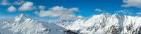 Silvretta Alps winter panorama, Austria