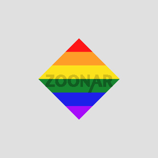 Simple LGBT colors icon