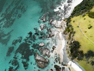 Scenic south coast aerial beach scape Australia