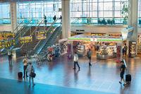 Passenger Kastrup airport hall Copenhagen