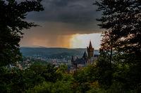 Blick zum Schloss Wernigerode vom Agnesberg