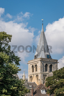 Clock tower of the Rochester Cathedral