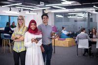 Portrait of successful multiethnic Business people