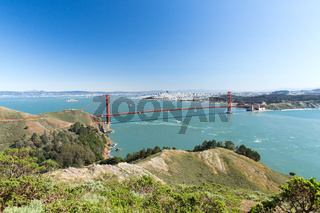 view of golden gate bridge over san francisco bay