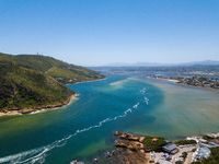 Aerial photo of Knysna in South Africa