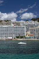Seaside hotels apartment buildings sea Santa Ponsa Mallorca