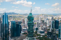 The famous  FF Tower,  office building and skyline of   Panama City, Panama