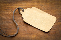 blank paper price tag with twine