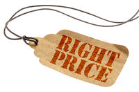 right price isolated tag