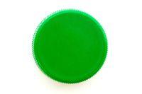 Green plastic bottle cap