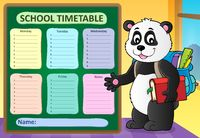 Weekly school timetable template 6