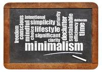 minimalism l;ifestyle word cloud on blackboard