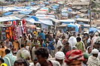 in lalibela ethiopia the market full of people in the celebration