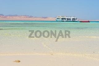 White boat in sea