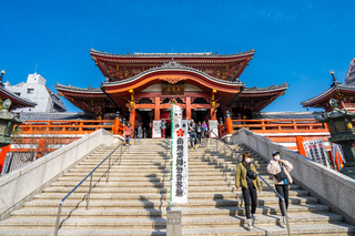 Osu Kannon Temple is a popular Buddhist temple in central Nagoya, Japan