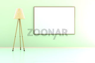 Blank Picture frame against the wall