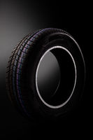 Winter car tire isolated.