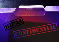 Confidential Patient Health records HIPAA folders