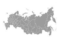 Schematic map of Russia on a white background