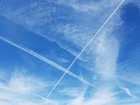 Kondensstreifen, Kondensation, Abgase, Flugzeuge