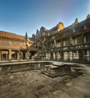 Pool in Angkor Wat. Siem Reap. Cambodia.