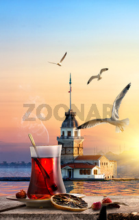 Tea and Maiden Tower
