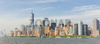 Panoramic view of Lower Manhattan, New York City, USA