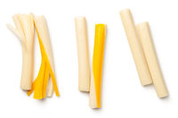 String Cheese Isolated on White Background