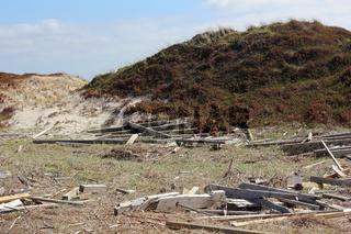 Sturmschaden an einer Düne auf Sylt