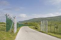 Neu errichteter Grenzzaun