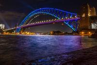 Sydney Harbour Bridge during Vivid Sydney
